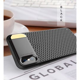 Joyroom ® Apple iPhone X Perforated Heat Dissipation Series with inbuilt Aluminium Metal Stand Thin Case Back Cover