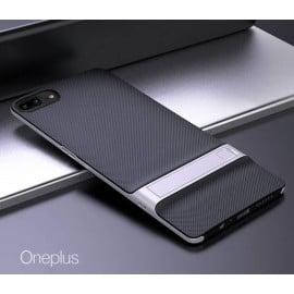 Vaku ® OnePlus 5 Royle Case Ultra-thin Dual Metal + inbuilt Stand Soft / Silicon Case