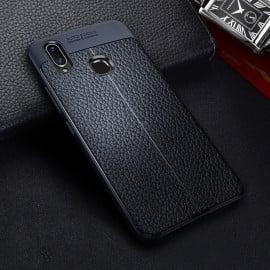 Vaku ® Vivo V9 Kowloon Double-Stitch Edition Silicone Leather Texture Finish Ultra-Thin Back Cover