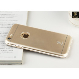 Baseus ® Apple iPhone 6 / 6S Ambience Shockproof TPU + PC + Arc Aluminium Metal Back Cover