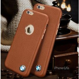 BMW ® Apple iPhone 6 / 6S LOGO Display Split Suede bronze chrome Leather case