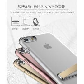 Rock ® Apple iPhone 7 Ultra-Slim Jacket Transparent TPU Case with Inbuilt Kickstand Back Cover