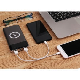Spade ® Wire-less Charging PowerBank ABS Body With Digital Display High Power 10,000 mAh Dual-USB Output Power Bank