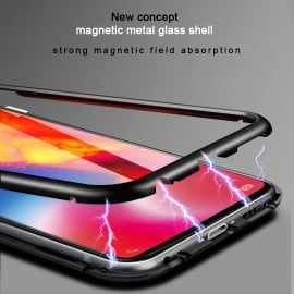 Vaku ® Samsung Galaxy A9 (2018) Electronic Auto-Fit Magnetic Wireless Edition Aluminium Ultra-Thin CLUB Series Back Cover