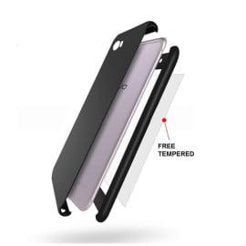 Vaku ® Vivo V5 / V5s 360 Full Protection Metallic Finish 3-in-1 Ultra-thin Slim Front Case + Tempered + Back Cover