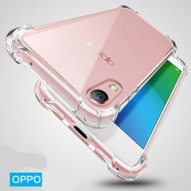 Vaku ® Oppo A37 PureView Series Anti-Drop 4-Corner 360° Protection Full Transparent TPU Back Cover