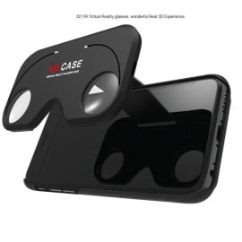 VR CASE ® Apple iPhone 6 / 6S 3D Virtual Reality Glasses with Shell Creative Foldable Phone Holder + Back Cover