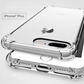 Vaku ® Apple iPhone 7 Plus / 8 Plus Gorilla Glass Unbreakable PureView Series Anti-Drop 4-Corner 360° Protection Full Transparent TPU Back Cover