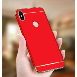 Vaku ® Xiaomi Redmi Note 6 Pro Ling Series Ultra-thin Metal Electroplating Splicing PC Back Cover