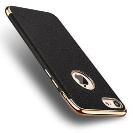 Vaku ® Apple iPhone 6 Plus / 6S Plus Altrim Grained Leather Ultra-thin Metal Electroplating Splicing PC Back Cover
