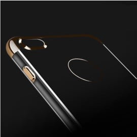 Shengo ® Apple iPhone 6 / 6S Piano Black Liner Series 2K Electroplated Finish Logo Display TPU Back Cover