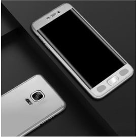 Ooxoo ® Samsung Galaxy Note 4 360 Full Protection Metallic Finish 3-in-1 Ultra-thin Slim Front Case + Tempered + Back Cover