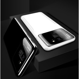 Vaku ® Samsung Galaxy A8 2018 Polarized Glass Glossy Edition PC 4 Frames + Ultra-Thin Case Back Cover