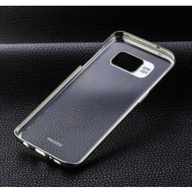 Joyroom ® Samsung Galaxy S7 Edge Transparent Full-View Protective Metal Electroplating Finish PC Back Cover
