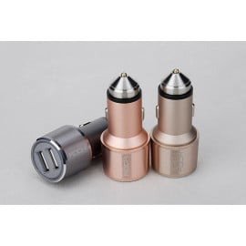 Rock ® Fireproof Safe Aluminium Alloy USB Bullet Design Window Breaker + Portable Hammer Car Charger