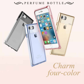 Rock ® Apple iPhone 7 Plus Crystal Series Metallic Finish Transparent TPU Protection Case Back Cover