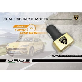Lamborghini ® URUS D6 3.0 Dual USB Rapid Fast Charging Car Charger