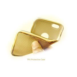 Vaku ® Apple iPhone 5 / 5S / SE Ultra-thin Knit Metal Electroplating Finish Silicon TPU Back Cover