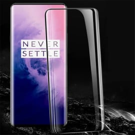Dr. Vaku ® OnePlus 7 Pro 5D Curved Edge Ultra-Strong Ultra-Clear Full Screen Tempered Glass-Black