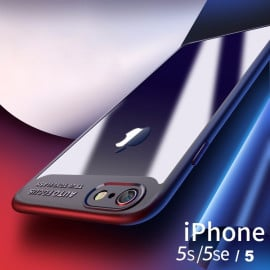 Vaku ® Apple iPhone 5 / 5S / 5 SE Kowloon Series Top Quality Soft Silicone  4 Frames plus ultra-thin case transparent cover