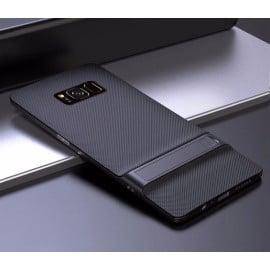 Vaku ® Samsung Galaxy S8 Royle Case Ultra-thin Dual Metal + inbuilt Stand Soft / Silicon Case
