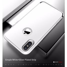 DUZHI ® Apple iPhone X Lingo Series Ultra-thin Metal Electroplating Splicing PC Back Cover