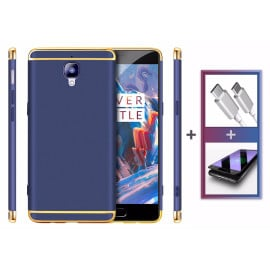 Vaku ® OnePlus 3 / 3T Ling Series Case + Type C Cable + 3D Tempered Glass