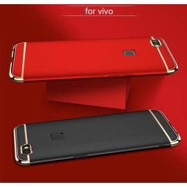 Vaku ® Vivo V7 Ling Series Ultra-thin Metal Electroplating Splicing PC Back Cover