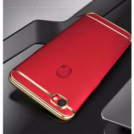 Vaku ® Oppo F5 Ling Series Ultra-thin Metal Electroplating Splicing PC Back Cover