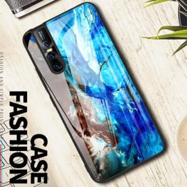 VAKU ® Vivo V15 Pro Emperador Light Series Ultra-Shine Luxurious Tempered Finish Silicone Frame Thin Back Cover
