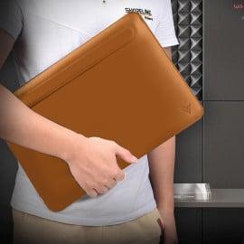 Vaku ® Apple MacBook Air / Pro Magnetic Flap PU Leather Sleeve