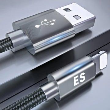 Vaku ® For Apple Lightning Nylon Braided USB Data-Charging Cable